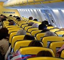 Innenraum Flugzeug von Ryanair